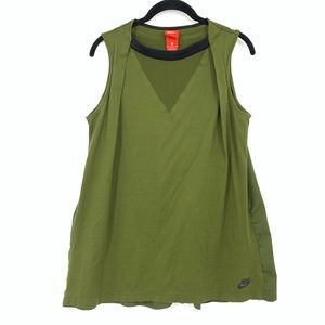 Nike Sportswear NSW Bonded Green Sleeveless Tank